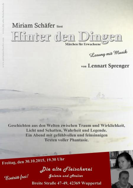 Hinter den Dingen - Fantasy-Lesung von Miriam Schäfer in der alten Fleischerei in Wuppertal