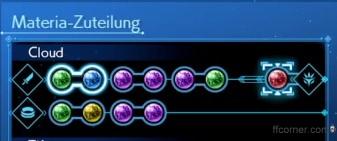 Final Fantasy 7 Remake - Materia Menü