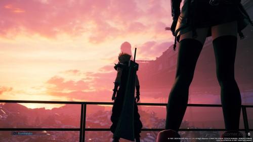 Final Fantasy VII Remake Im Licht der untergehenden Sonne