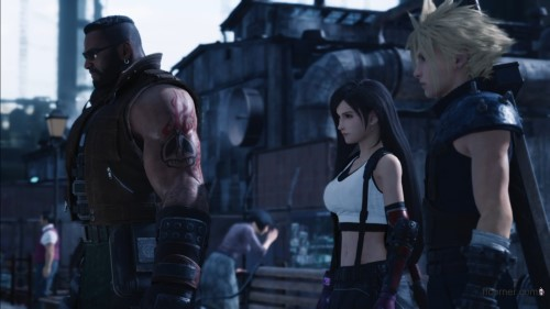 Barret, Tifa & Cloud