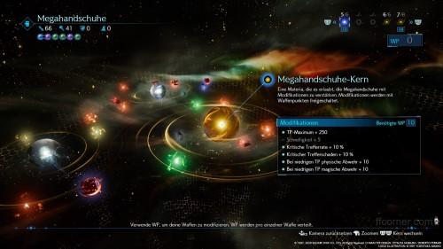 FF7R Waffen Screen