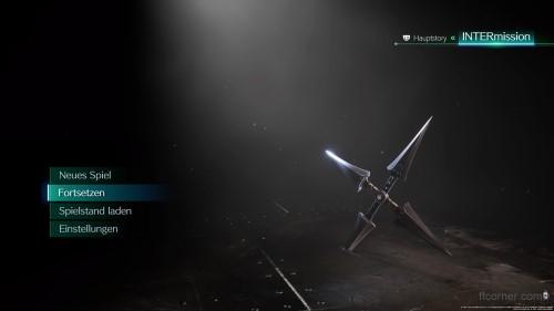 Final Fantasy VII Remake Intermission Startbildschirm